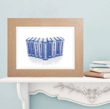 Book Art Print - Personalised Wedding, Anniversary or Valentine's Gift